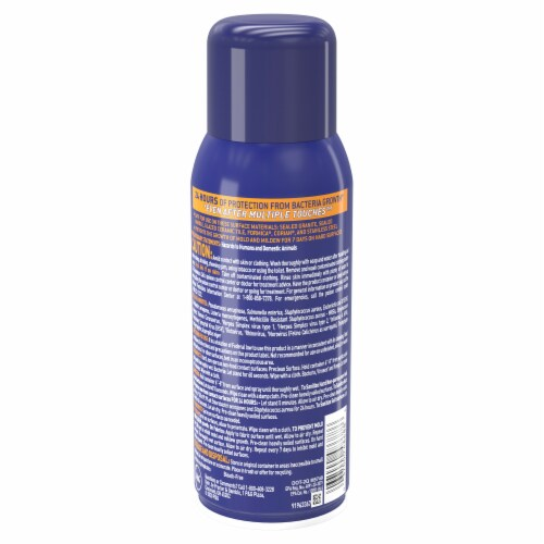 Microban 24 Hour Citrus Scent Disinfectant Sanitizing Spray Perspective: back