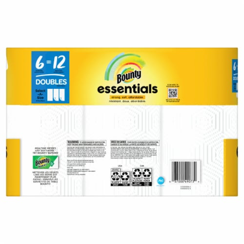 Bounty Essentials Select-A-Size Double Roll Paper Towel Perspective: back