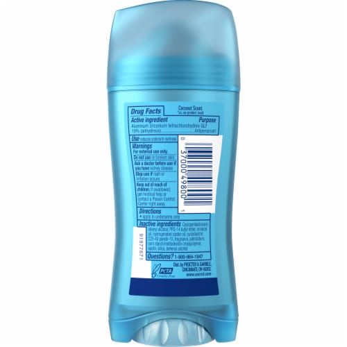 Secret Fresh Collection Coconut Solid Antiperspirant Perspective: back
