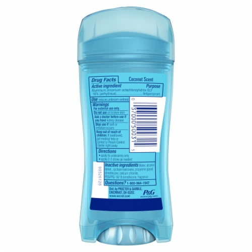 Secret Fresh Collection Coconut Gel Antiperspirant Deodorant Perspective: back