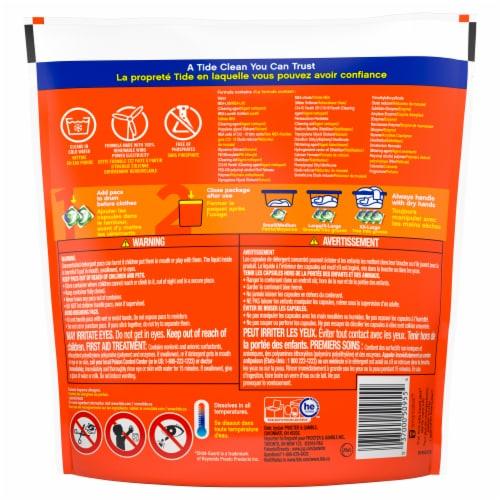 Tide Pods Clean Breeze Liquid Laundry Detergent Pacs Perspective: back