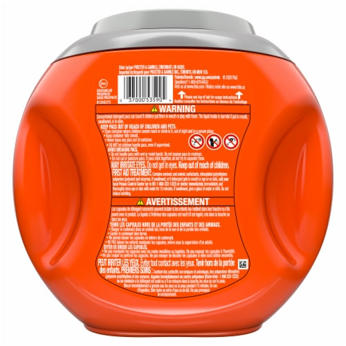 Tide Original Hygienic Clean Heavy Duty Power Pods Perspective: back