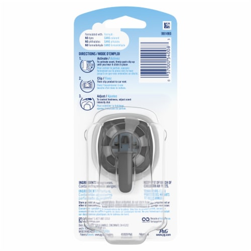 Febreze Auto Whispering Woods Air Freshener Vent Clip Perspective: back
