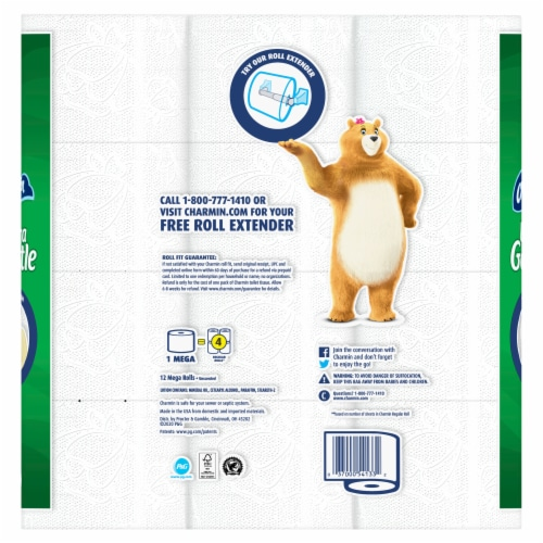Charmin Ultra Gentle Lotion Bathroom Tissue Perspective: back