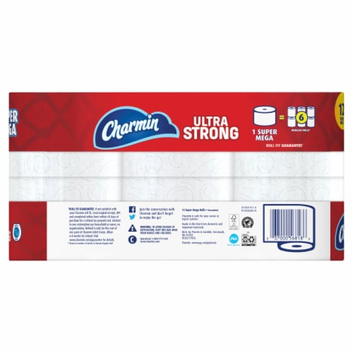Charmin Ultra Strong Toilet Paper Perspective: back