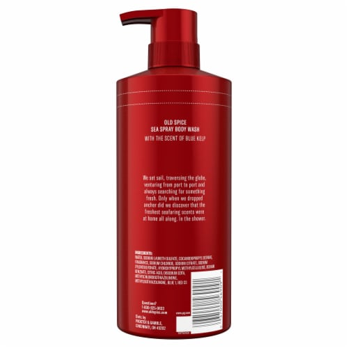Old Spice Men Red Reserve Body Wash Sea Spray with Kelp Perspective: back