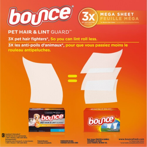 Bounce® Pet Hair and Lint Guard™ Fresh Scent Dryer Sheets Perspective: back
