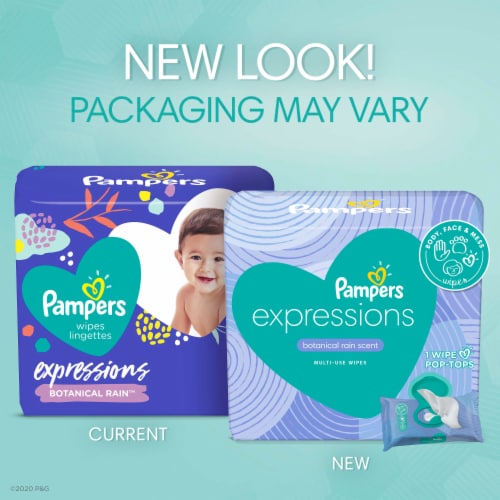 Pampers Expressions Botanical Rain Baby Wipes Perspective: back