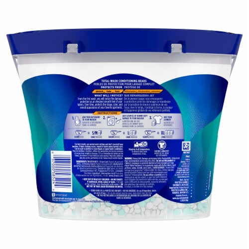 Downy Defy Damage Fresh Scent Total Wash Conditioning Beads Perspective: back