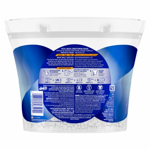 Downy DEFY Damage Unscented Total Wash Conditioning Beads Perspective: back