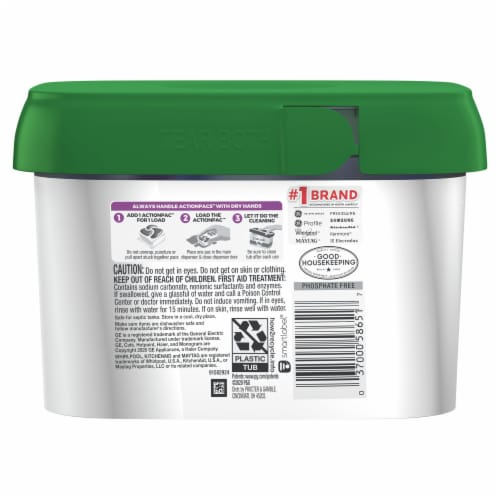 Cascade Platinum Fresh Scent Plus Dishwashing Cleaner Actionpacs Perspective: back