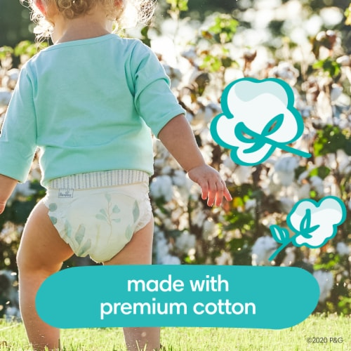 Pampers Pure Protection Size 1 Newborn Diapers Perspective: back