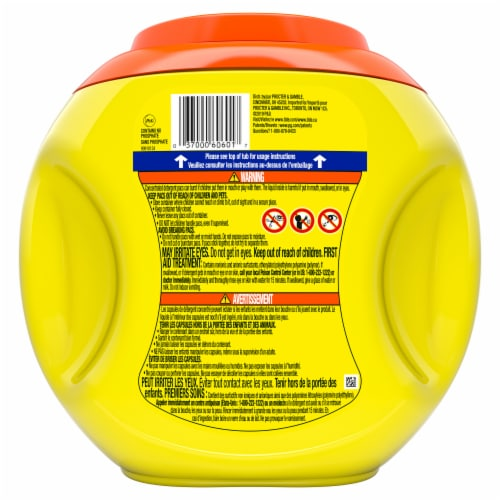Tide Simply OXI 3 in 1 Fresh Scent Liquid Laundry Detergent Pods Perspective: back