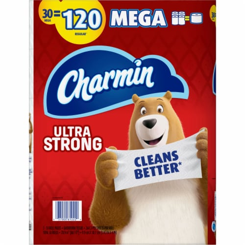 Charmin Ultra Strong Bathroom Tissue Perspective: back