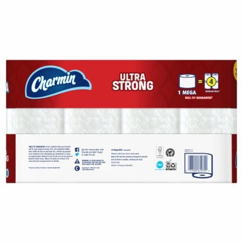 Charmin Ultra Strong Mega Roll Toilet Paper Perspective: back