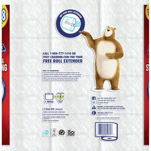 Charmin® Ultra Strong™ Mega Roll Toilet Paper Perspective: back