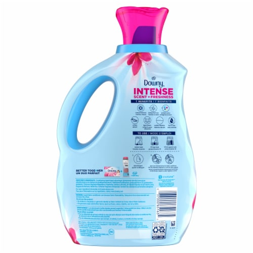 Downy Intense Scent + Freshness Spring Rush Fabric Softener Perspective: back