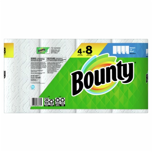 Bounty Select-a-Size White Double Roll Paper Towels Perspective: back