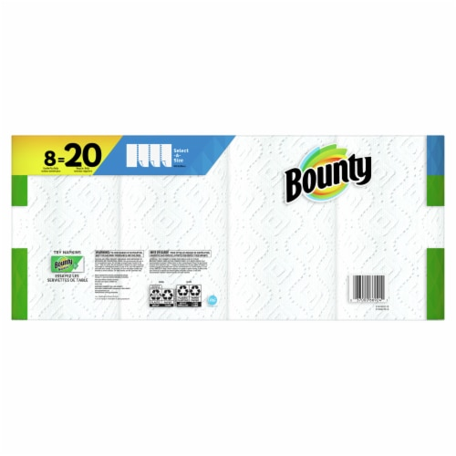 Bounty Select-a-Size 2-Ply Double Plus Paper Towel Rolls Perspective: back