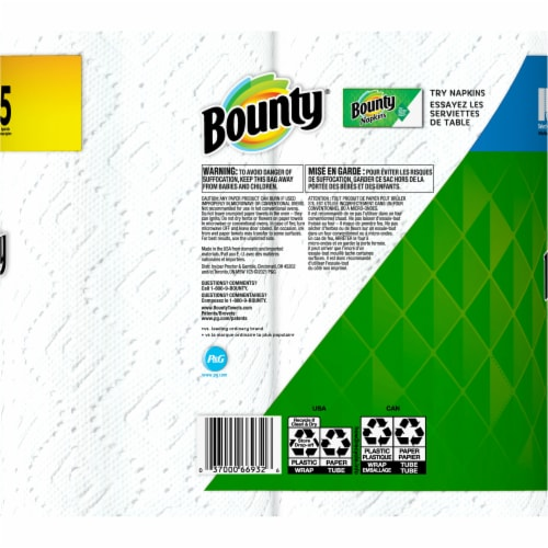 Bounty Base Select-a-Size 2-Ply Paper Towels Perspective: back