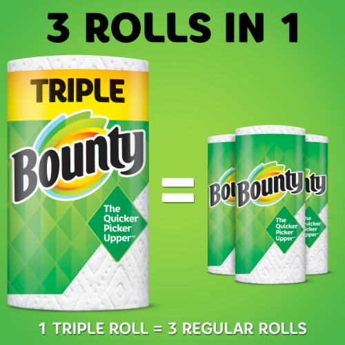 Bounty Select-a-Size White Triple Roll Paper Towels Perspective: back