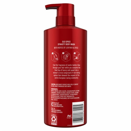 Old Spice Men Red Reserve Body Wash Dynasty Cologne Scent Perspective: back