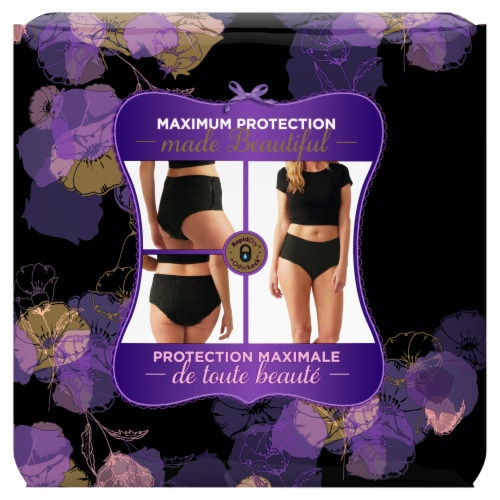 Always Discreet Boutique Maximum Large Low Rise Women's Incontinence Underwear Perspective: back