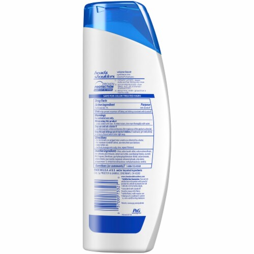 Head and Shoulders Volume Boost Paraben Free Dandruff Shampoo Perspective: back