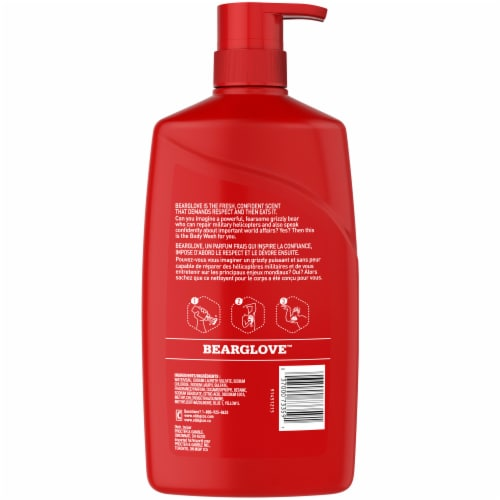 Old Spice Wild Collection Bearglove Body Wash Perspective: back