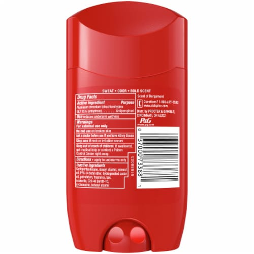 Old Spice Red Collection Captain Anti-Perspirant & Deodorant Stick for Men Perspective: back