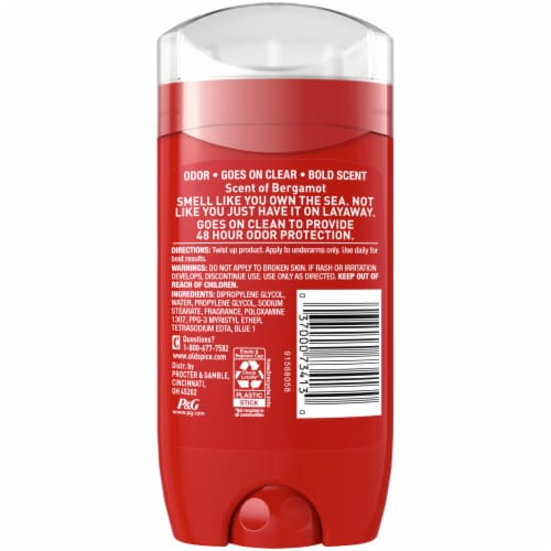 Old Spice Men Red Collection Captain Scent Deodorant Perspective: back