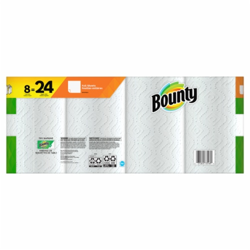 Bounty 2-Ply Triple Paper Towels Perspective: back