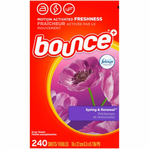 Bounce® Spring & Renewal Dryer Sheets Perspective: back