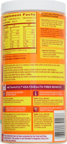Metamucil Sugar Free Smooth Texture Daily Fiber Supplement Perspective: back