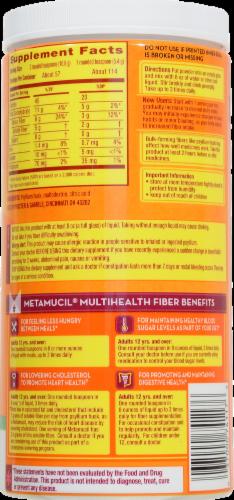 Metamucil 4-in-1 Psyllium Fiber Supplement No Added Sweeteners Unflavored Coarse Texture Powder Perspective: back