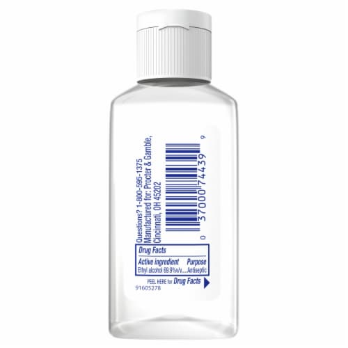 Safeguard Alcohol Hand Sanitizer Fresh Clean Scent Perspective: back