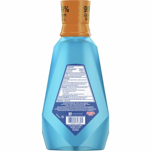 Crest Pro-Health Intense Mouthwash Clean Mint Perspective: back