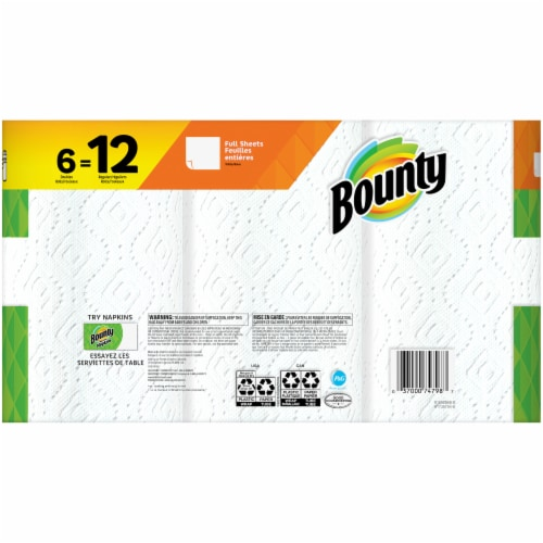Bounty Doubles White Paper Towels Perspective: back