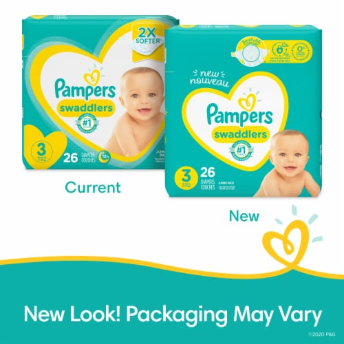 Pampers Swaddlers Size 3 Diapers Jumbo Pack Perspective: back