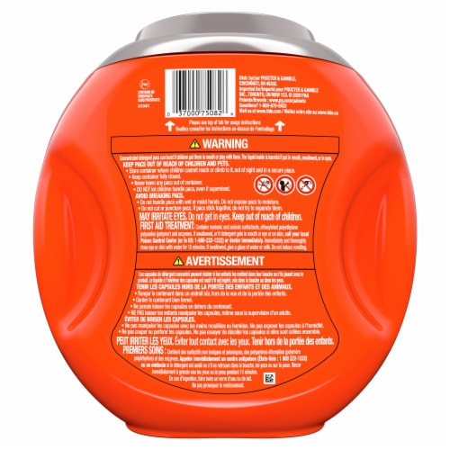 Tide PODS Ultra Oxi Liquid Laundry Detergent Pacs Perspective: back