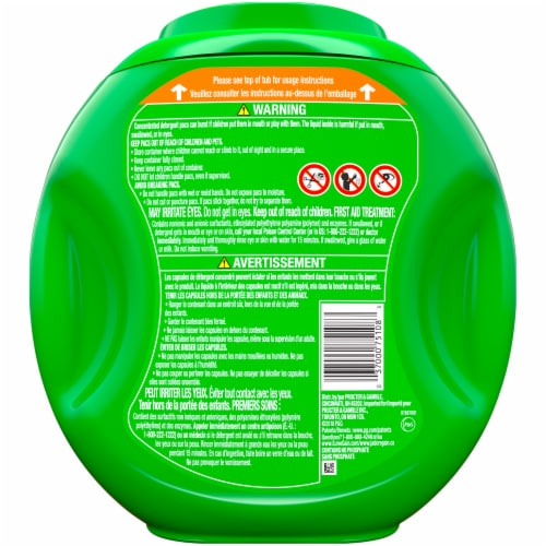 Gain Flings +AromaBoost 3 in 1 Island Fresh Laundry Detergent Pacs Perspective: back