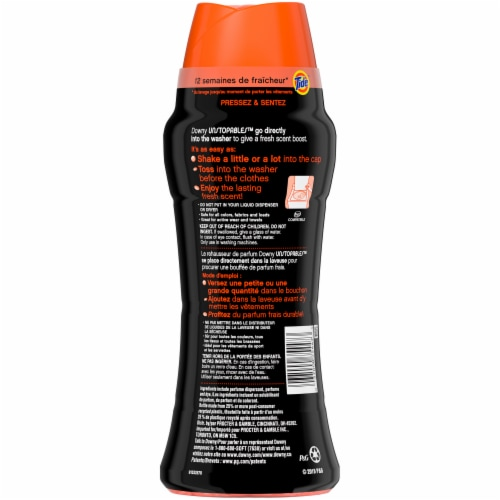 Downy Unstopables Tide Orignal Scent In-Wash Scent Booster Perspective: back