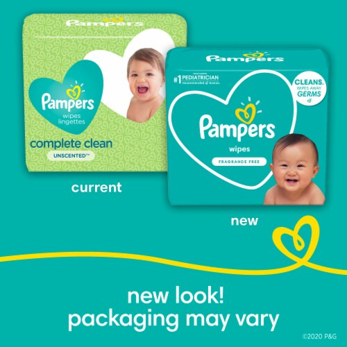 Pampers Complete Clean Unscented Baby Wipes Perspective: back