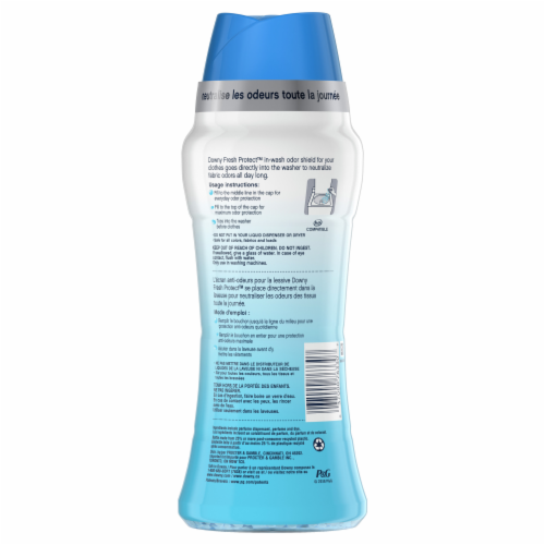 Downy Fresh Protect Febreze Active Fresh In-Wash Odor Defense Scent Booster Beads Perspective: back