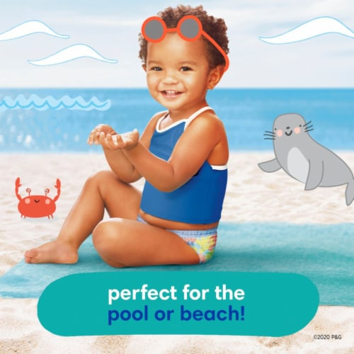 Pampers Splashers Large Disposable Swim Pants Perspective: back