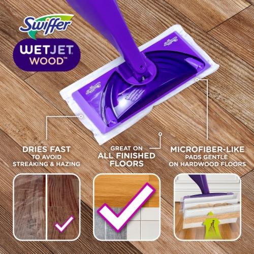 Swiffer WetJet Wood Floor Spray Mopping Kit Perspective: back