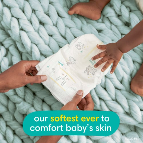 Pampers Swaddlers Size N Newborn Diapers Perspective: back