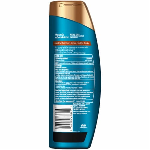 Head & Shoulders Royal Oils Shampoo with Coconut Oil for Natural Coily and Curly Hair Perspective: back