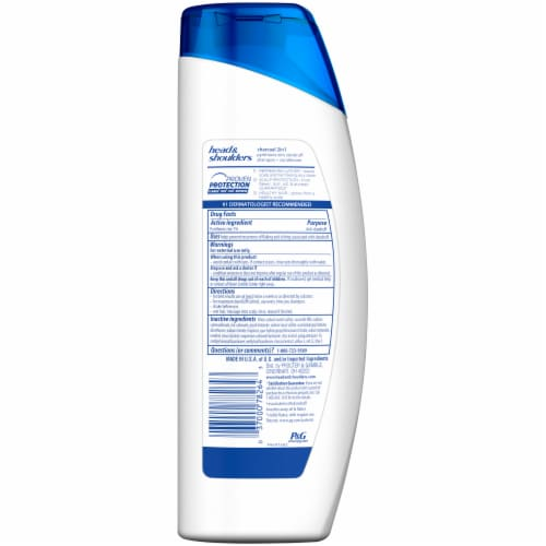 Head & Shoulders Men Advanced Series Charcoal 2-in-1 Anti-Dandruff Shampoo + Conditioner Perspective: back