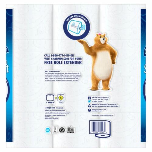 Charmin® Ultra Soft Mega Rolls Toilet Paper Perspective: back